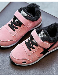 Para Meninas sapatos Courino Inverno Outono Conforto Tênis para Casual Preto Verde Tropa Rosa claro