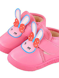Baby Shoes Leatherette Winter Fall Comfort First Walkers Boots for Casual Pink Red