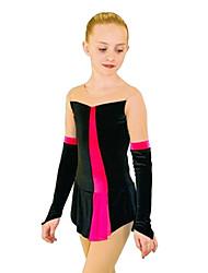 economico -Vestito da pattinaggio artistico Per donna Da ragazza Pattinaggio sul ghiaccio Vestiti Fucsia Blu Elastene Anelastico Prestazioni