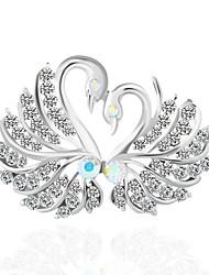 Недорогие -Жен. Броши - Классический Брошь Белый / Серебряный Назначение Свадьба / Для вечеринок
