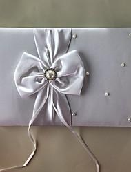 Satén Romantika Fantazie SvatbaWithMašle Umělé perly 1 krabice Návštěvní kniha