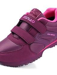 baratos -Mulheres Sapatos Borracha Primavera Outono Conforto Tênis Caminhada Sem Salto Ponta Redonda Botas Curtas / Ankle Cadarço de Borracha para