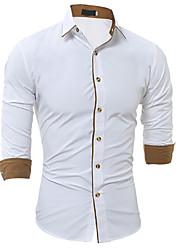 Недорогие -Муж. Рубашка Винтаж Цветочный принт Хлопок