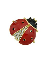cheap -Women's Brooches Jewelry Animals Basic Alloy Circle Black Red Jewelry For Street Date