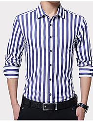 cheap -Men's Plus Size Shirt - Striped