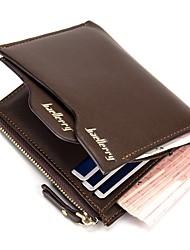 cheap -Men's Bags PU Wallet Zipper for Shopping Black / Brown