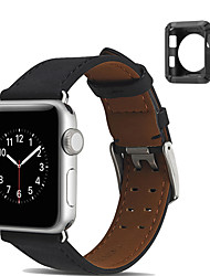 abordables -Bracelet de Montre  pour Apple Watch Series 3 / 2 / 1 Apple Sangle de Poignet Boucle Moderne Vrai Cuir