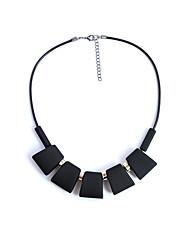 Недорогие -Жен. Ожерелья с подвесками Ожерелья-цепочки  -  Классический Геометрической формы Серый Красный Темно-зеленый Ожерелье Назначение Подарок