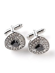 cheap -Drop White Black Cufflinks Crystal Imitation Diamond Alloy Formal Classic Fashion Daily Formal Men's Costume Jewelry