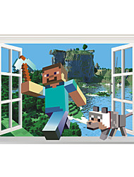 Недорогие -Мультипликация 3D Наклейки 3D наклейки Декоративные наклейки на стены, Винил Украшение дома Наклейка на стену Стена Окно
