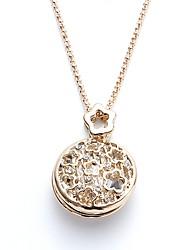 abordables -Femme Cristal Pendentif de collier  -  Basique Forme de Cercle Or Colliers Tendance Pour Cadeau Plein Air