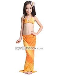 cheap -The Little Mermaid Skirt Swimwear Bikini Kid Christmas Masquerade Festival / Holiday Halloween Costumes Rainbow Yellow Color Block
