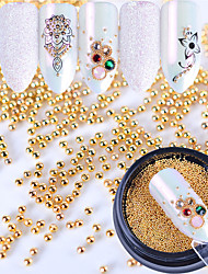 cheap -Metallic Accessories Glam Glitter Pearls Nail Jewelry Gold 0.003kg/box Nail Art Decoration