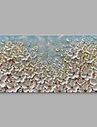preiswerte -Handgemalte Blumenmuster/Botanisch Horizontal, Modern Segeltuch Hang-Ölgemälde Haus Dekoration Ein Panel