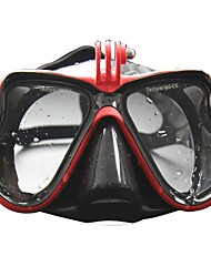cheap -Swim Mask Goggle / Snorkel Mask Anti Fog, Water Resistant / Water Proof Two-Window - Diving, Swimming Silicon Rubber, PC, Tempered Glass