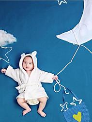 bebê Unissex Conjunto Aniversário Diário Sólido Primavera Verão Fibra Sintética Manga Comprida Fofo Activo Branco