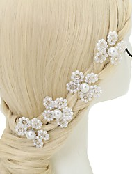 cheap -Crystal Imitation Pearl Alloy Hair Pin 4pcs Wedding Special Occasion Headpiece