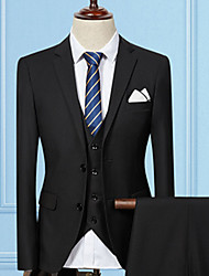 cheap -Men's Long Cotton Suits - Solid Colored