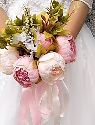 "cheap -Wedding Flowers Bouquets Wedding Party Evening Other Material Polyester 11.8""(Approx.30cm)"