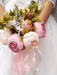 economico -Bouquet sposa Bouquet Matrimonio Da sera Altro Materiale Poliestere 30 cm ca.