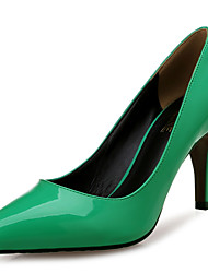 cheap -Women's Shoes Patent Leather Spring / Fall Comfort Heels Stiletto Heel Pointed Toe Green / Party & Evening / Dress / Party & Evening