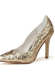 economico -Per donna Scarpe Paillette Primavera / Estate Decolleté scarpe da sposa A stiletto Appuntite Oro / Argento / Matrimonio / Serata e festa