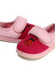 cheap -Girls' Shoes Wool Winter Spring First Walkers Comfort Flats Appliques Magic Tape Split Joint for Casual Peach