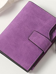 cheap -Women Bags PU Wallet Buttons for Event/Party Shopping All Season Light Grey Dark Grey Brown Fuchsia Purple