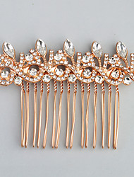 cheap -Rhinestone Alloy Hair Combs with Rhinestone Crystal 1pc Wedding Special Occasion Headpiece