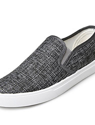 cheap -Men's Shoes Linen Spring Fall Comfort Loafers & Slip-Ons for Casual Gray Black