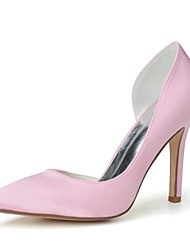 cheap -Women's Shoes Satin Spring Summer Basic Pump Wedding Shoes Stiletto Heel Pointed Toe for Wedding Party & Evening Pink White