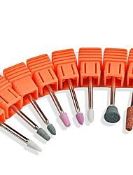 abordables -1 pc nail art tête de meulage forme ronde bande polie tige polissage tête outils de meulage