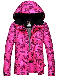 baratos -Homens / Mulheres Jaqueta de Esqui Térmico / Quente, A Prova de Vento, Esqui Acampar e Caminhar / Esqui / Sertão Poliéster Jaqueta de