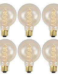 levne -GMY® 6ks 40 W E26/E27 G95 Teplá bílá 2200 K Retro Stmívatelné Ozdobné Incandescent Vintage Edison žárovka AC 220-240V V