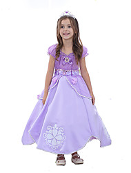 cheap -Princess Sofia Dress Halloween Festival / Holiday Halloween Costumes Outfits Light Purple Color Block Ball Gown Slip Cartoon Adorable