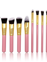 cheap -10pcs Foundation Brush Powder Brush Lip Brush Eyeshadow Brush Blush Brush Makeup Brush Set Others Synthetic Hair Nylon Professional Soft