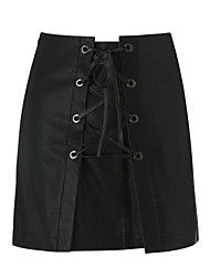 cheap -Women's Going out Bodycon Skirts - Solid Colored