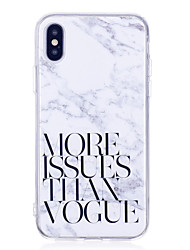 billige -Etui Til Apple iPhone X iPhone 8 Plus IMD Bagcover Marmor Blødt TPU for iPhone X iPhone 8 Plus iPhone 8 iPhone 7 Plus iPhone 7 iPhone 6s