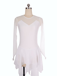 economico -Vestito da pattinaggio artistico Per donna Da ragazza Pattinaggio sul ghiaccio Vestiti Bianco Anelastico Prestazioni Esercitazione