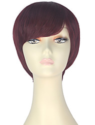cheap -Synthetic Wig Straight Brown Women's Capless Carnival Wig Halloween Wig Party Wig Lolita Wig Natural Wigs Cosplay Wig Short Synthetic Hair