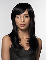 cheap -Women Human Hair Capless Wigs Strawberry Blonde/Light Blonde Medium Auburn/Bleach Blonde Medium Auburn Natural Black Long Natural Wave