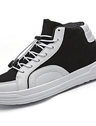 Damer Sko Gummi Forår Efterår Komfort Sneakers Gang Flade hæle Rund Tå Ankelstøvler Rosette for Hvid Sort