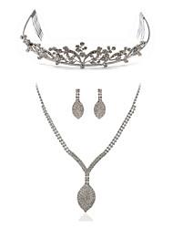 preiswerte -Damen Synthetischer Diamant Diamantimitate Schmuck-Set Körperschmuck 1 Halskette Ohrringe - Modisch Europäisch Ketten Braut-Schmuck-Sets