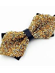 economico -Per uomo Per tutte le stagioni Cotone Vintage Da serata Papillon,Cristalli Oro