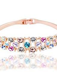 Недорогие -Жен. Браслет цельное кольцо Синтетический алмаз Классика Мода Искусственный бриллиант Сплав Круглый Бижутерия Повседневные Бижутерия