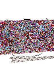 Недорогие -жен. Мешки Полиэстер Вечерняя сумочка Жемчужная отделка для Свадьба Для праздника / вечеринки Все сезоны Цвет радуги