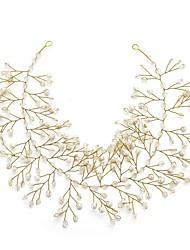 billige -Krystal / Imiteret Perle Pandebånd med 1pc Bryllup / Speciel Lejlighed Medaljon