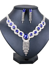 cheap -Women's Silver Plated Jewelry Set 1 Necklace / Earrings - Classic / Fashion Silver Jewelry Set / Bridal Jewelry Sets For Wedding / Party