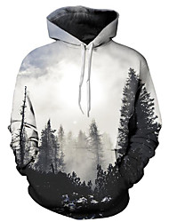 cheap -Men's Plus Size Hoodie Print Hooded