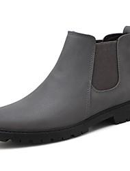 Недорогие -Муж. Легкие подошвы Искусственная кожа Осень / Зима Удобная обувь Ботинки Для прогулок Ботинки Черный / Серый / Красный